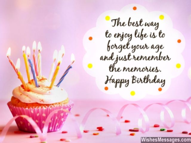 Happy Birthday Wishes About Forget Your Age