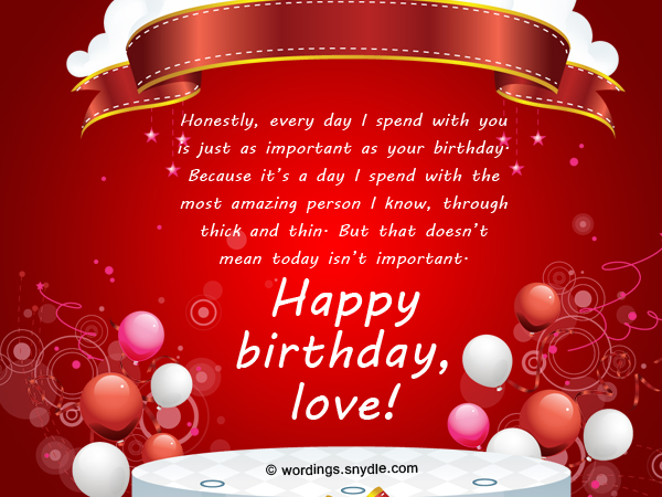 Happy Birthday Wishes To Love