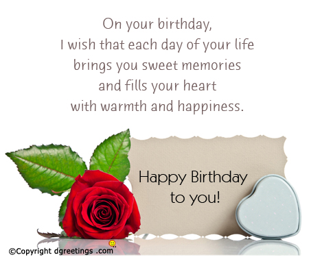 Happy Birthday Wishes With Happiness