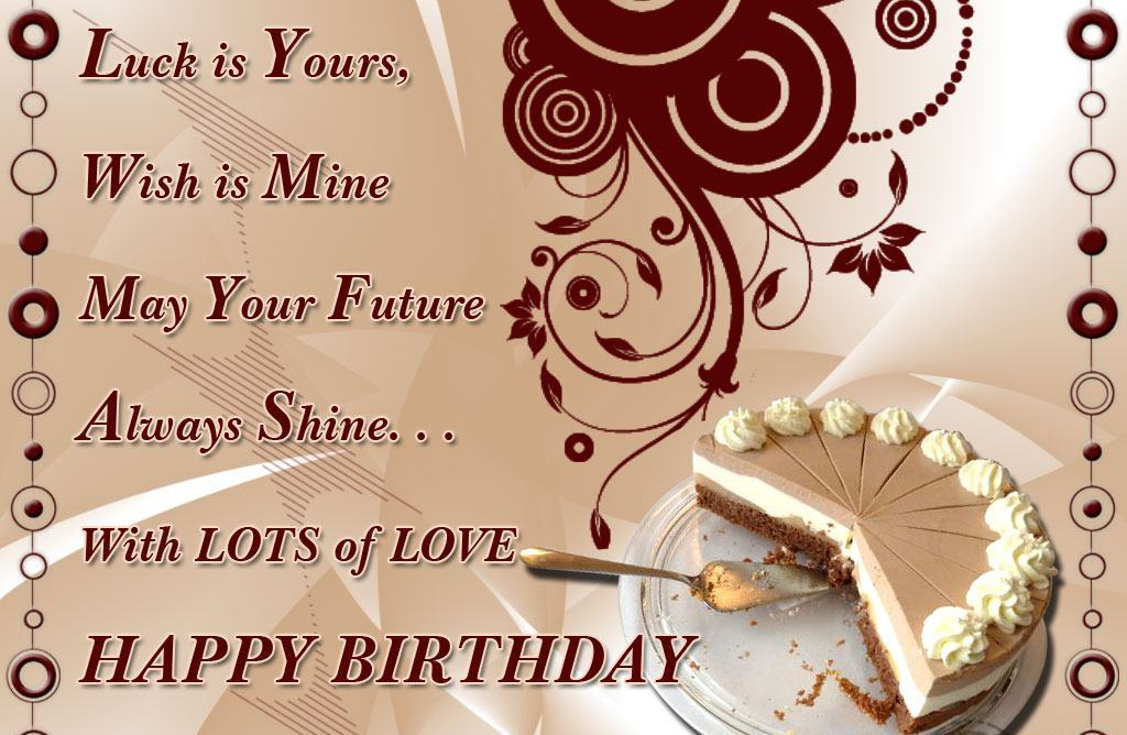 Happy Birthday Wishes With Lots Of Love
