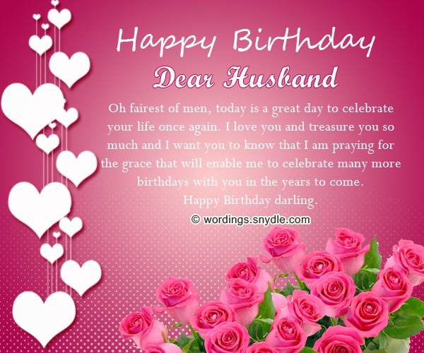 Lovely Happy Birthday Wishes To Dear Husband