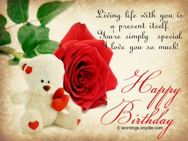 Lovely Happy Birthday Wishes To Wife