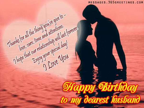 Most Romantic Happy Birthday Wishes To My Dearest Husband