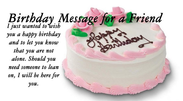 Nice Cake Birthday Message For Friend