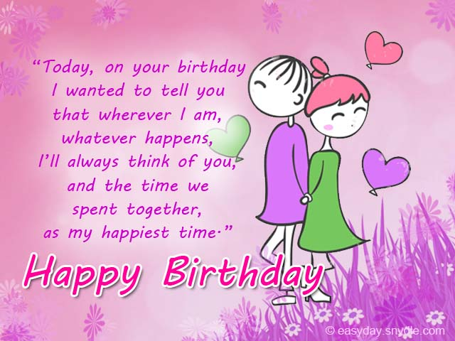 Nice E-Card Romantic Happy Birthday Wishes