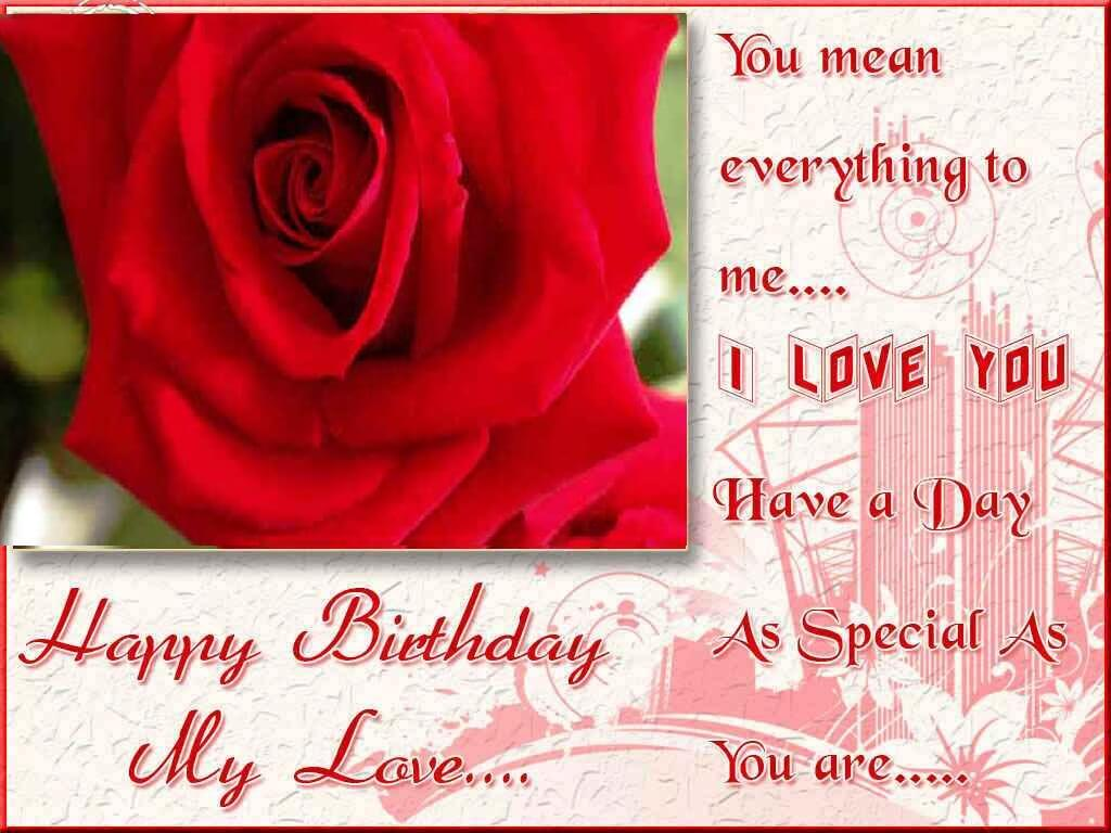 Nice Rose Happy Birthday Wishes To My Romantic Lover