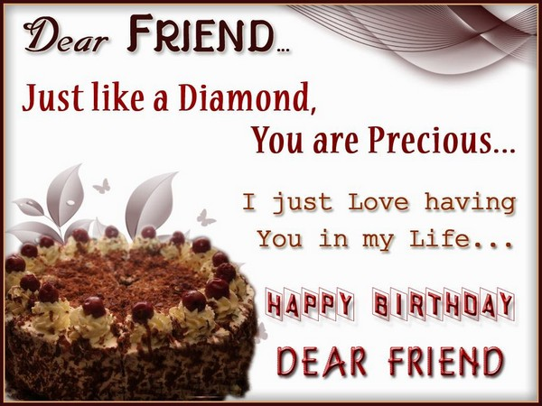 Perfect E-Card Happy Birthday Wishes To Dear Friend