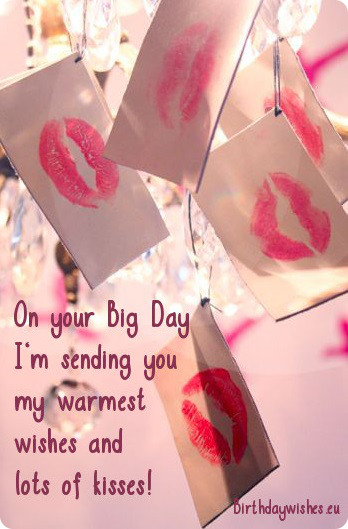 Romantic Birthday Wishes & Greetings With Lots Of Kisses