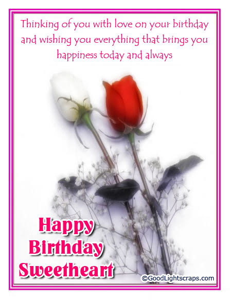 Romantic Birthday Wishes Message For Sweetheart