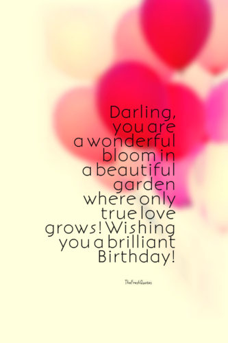 Romantic Birthday Wishes To Darling