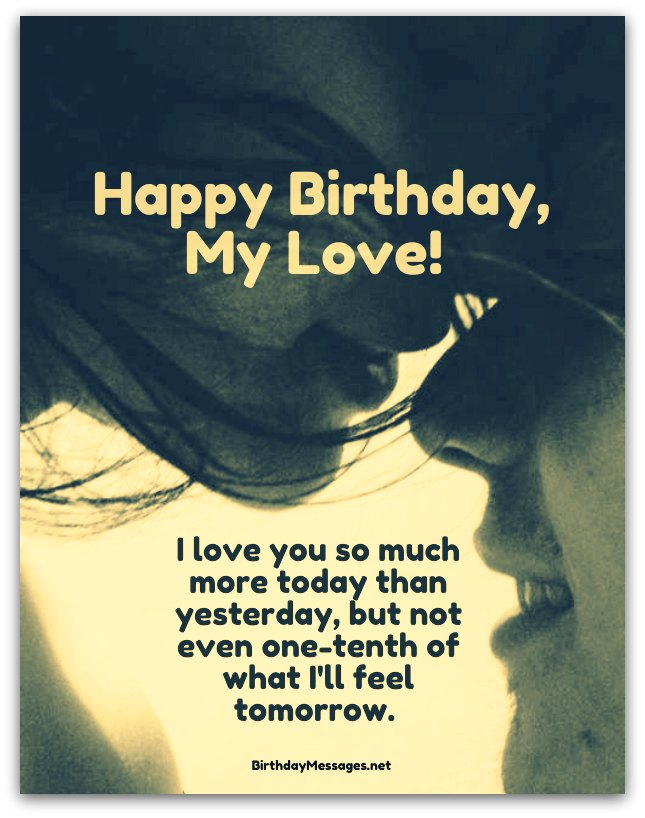 Romantic E-Card Happy Birthday Wishes To My Love