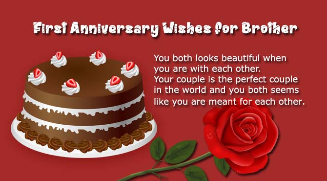 1st Anniversary Wishes For Brother With Cake