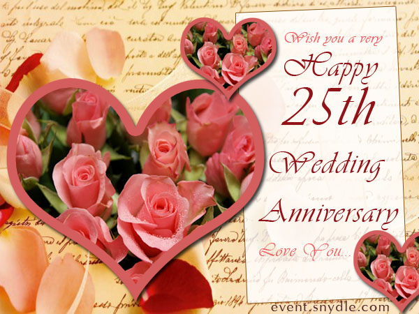 25th Wedding Anniversary Greetings With Flowers