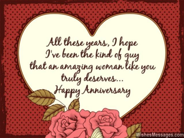 Amazing Anniversary Greeting Card With Love Quotes And Heart