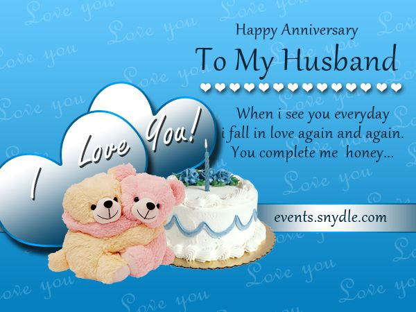 Wedding anniversary card greetings for husband nicewishes