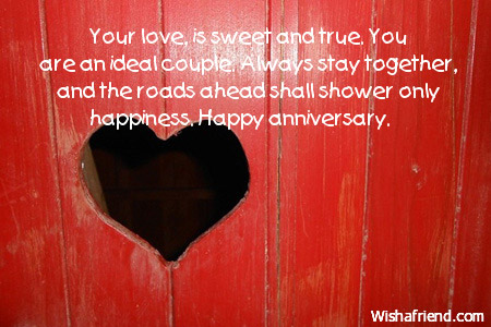 Anniversary Cutest Wishes With Heart