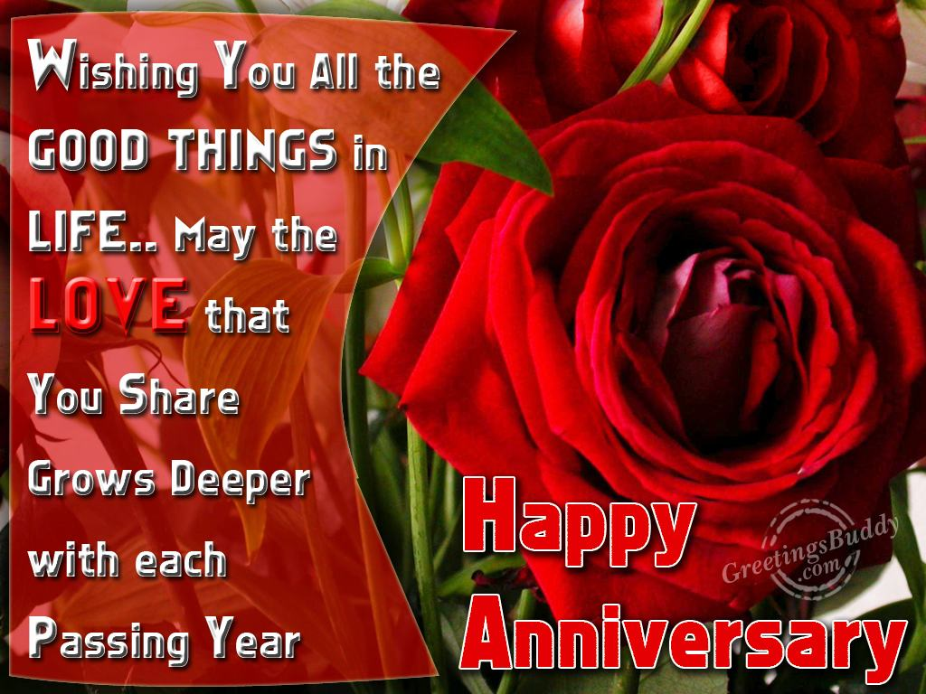 Anniversary Greetings And Wishes With Flowers