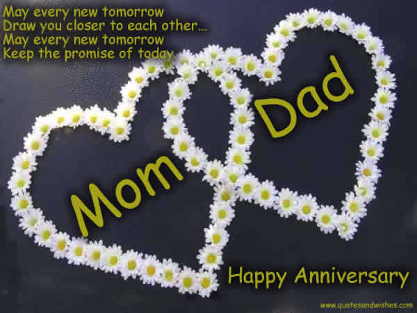 Anniversary greetings with love for mom and dad nicewishes