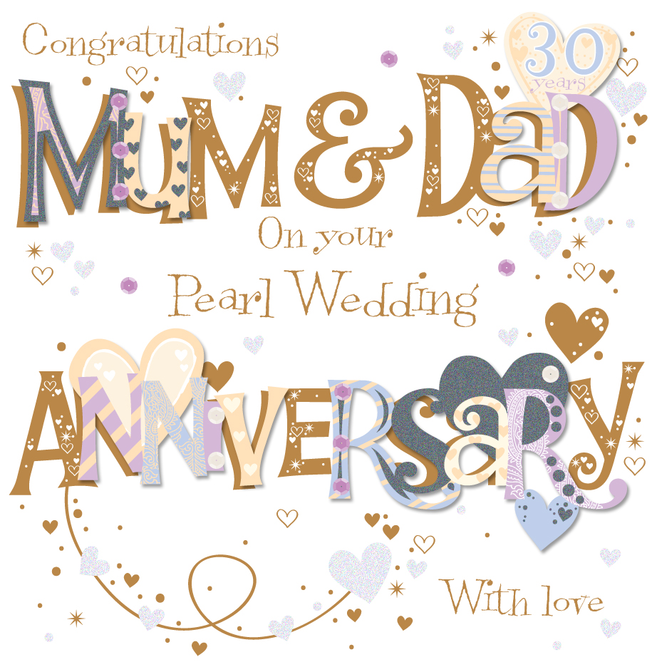 Magnificent Anniversary Greetings For Mom And Dad With Love Nicewishes
