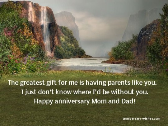 Anniversary Greetings For Parents