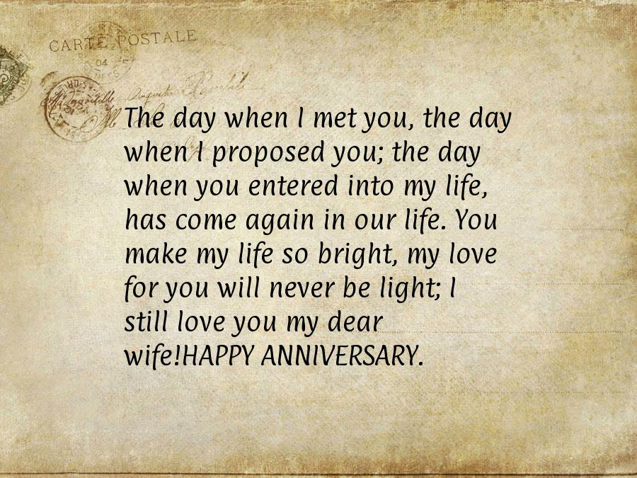 Wedding Anniversary Images For Wife With Quotes And Sayings Nice Wishes