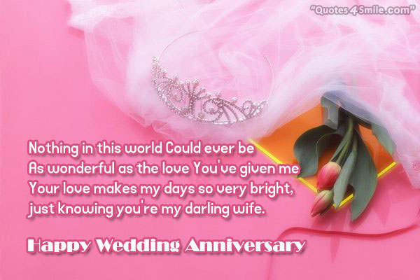 Nice wedding anniversary wishes for wife nicewishes