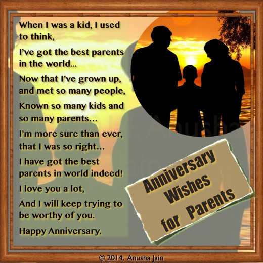 Anniversary Wishes And Greetings For Parents