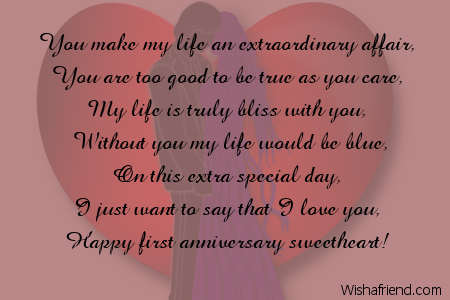 Anniversary Wishes And Poems