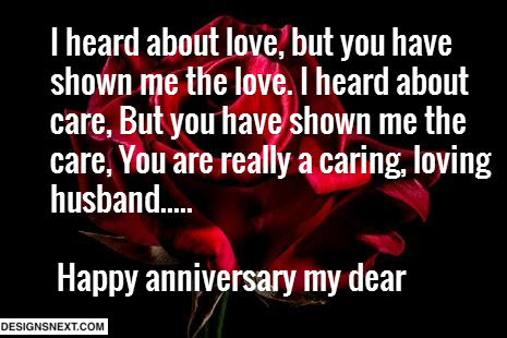 Anniversary Wishes For Caring Husband