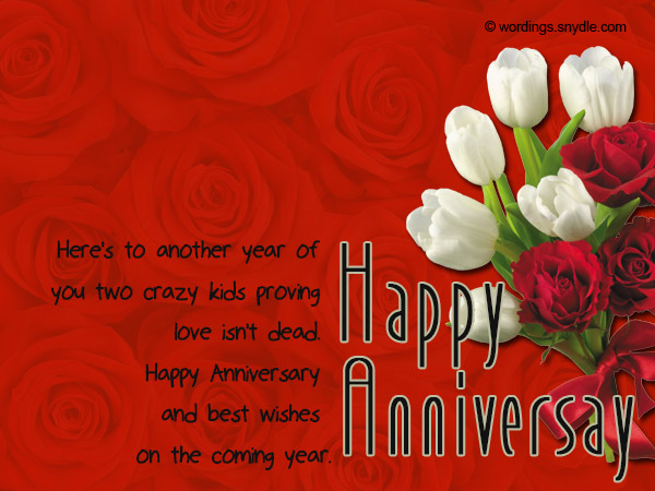 Anniversary wishes for a couple with pots of flowers nicewishes m4hsunfo