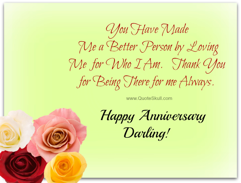Anniversary Wishes For Darling With Quote