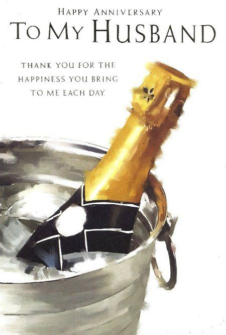 Anniversary Wishes For Husband With Celebration And Champagne