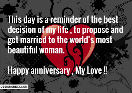Anniversary Wishes For My Love
