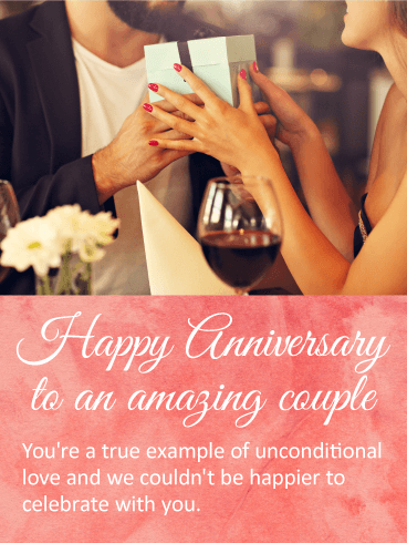 Anniversary Wishes To An Amazing Couple