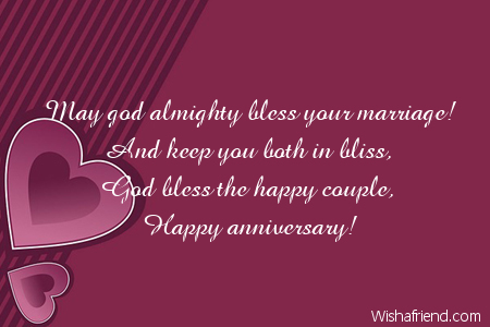 Anniversary Wishes To The Happy Couple
