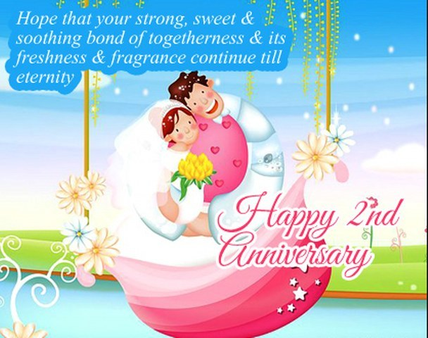 2nd wedding anniversary wishes for sister