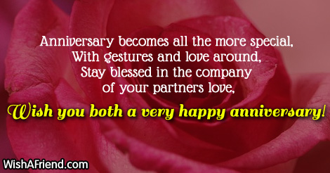 Anniversary Wishes With Lots Of Happiness