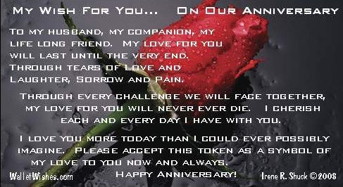Anniversary Wishes With Rose