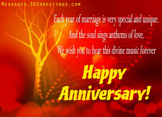 Anniversary Wishes With Unique Style