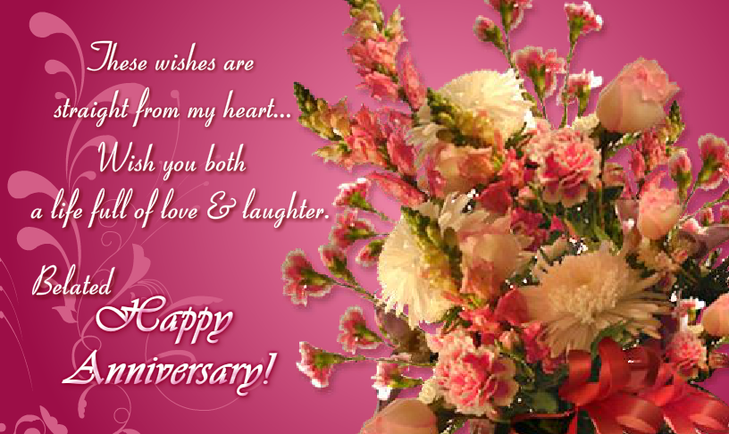 Belated happy anniversary wishes for parents nicewishes