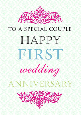 First Wedding Anniversary Greetings