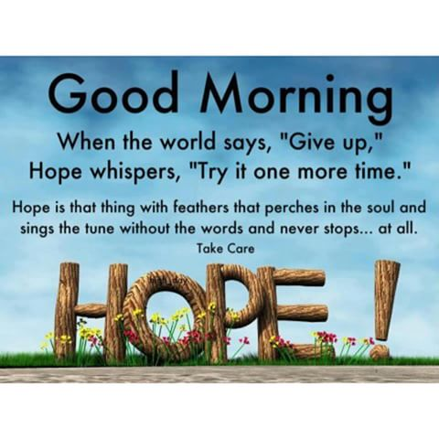 Good Morning Wishes With Hope
