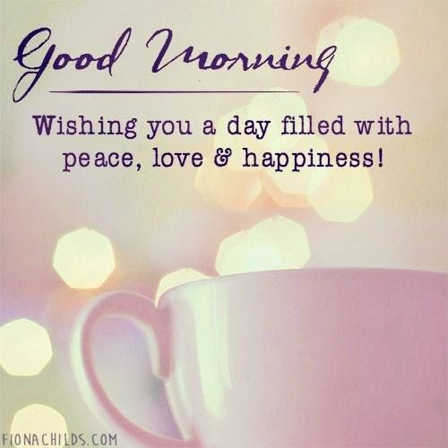 Good Morning Wishes With Peace