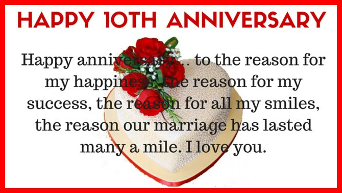 Greetings for 10th anniversary with love with roses nicewishes greetings for 10th anniversary with love m4hsunfo