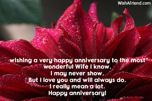 Greetings For Anniversary For Wife