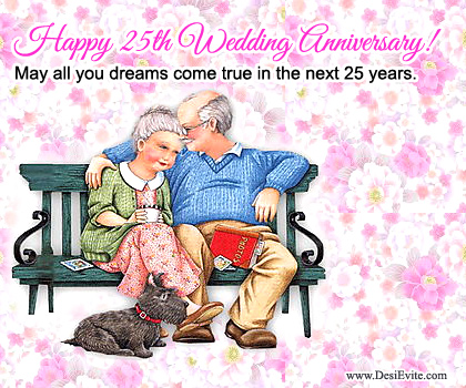 Happy 25th Wedding Anniversary Greetings For Parenrts Nice Wishes