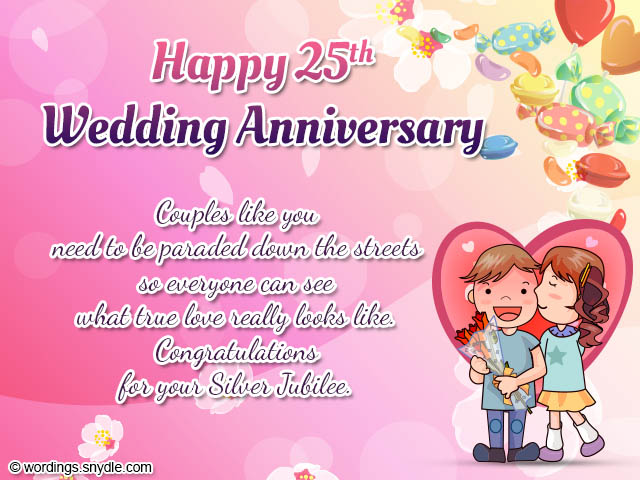 Happy 25th Wedding Anniversary With Quotes