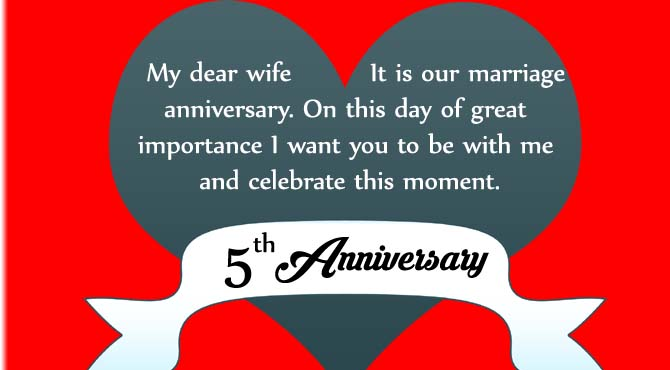 Happy th wedding anniversary wishes for dear wife nicewishes