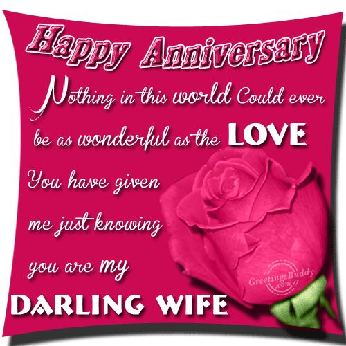 Happy Wedding Anniversary For My Darling Wife Nice Wishes