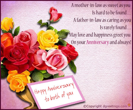 Happy Anniversary Greetings For Parents In Law Nice Wishes Check some happy anniversary quotes for boyfriend to wish him on 1st year anniversary, 2nd anniversary with your hubby for facebook, twitter, pinterest. nice wishes